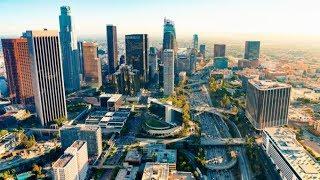 【絶景映像!】ロサンゼルスのダウンタウン特集!!【ドローン空撮】drone movie california