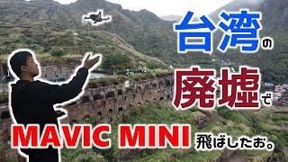 【台湾旅5】台湾の廃墟でドローン飛ばしたら絶景だった【黄金瀑布】【天空之城 十三層遺址】【DJI MAVIC MINI】