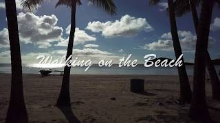 4K Guam Drone –  Walking on the Beach