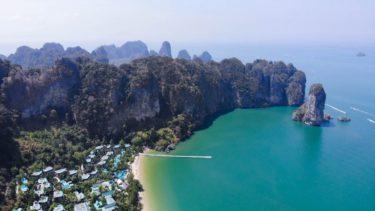 【ドローン空撮】 手つかずの自然が残るリゾートビーチ タイ・クラビ Krabi, Thailand