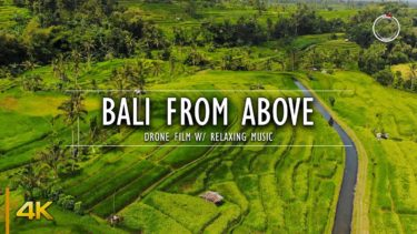 Bali from Above | 1 Hour Drone Film | Aerial 4K Nature Video w/ Relaxing Ambient Music | OmniHour