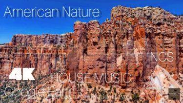 【Virtual drone】 American Nature  #2    4K California  google earth  Drone アメリカ絶景