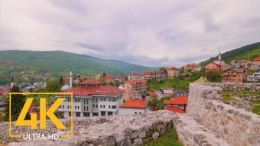 4K Virtual Walking Tour with City Sounds – Scenic Travnik, Bosnia and Herzegovina – City Walks