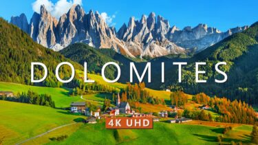 Visit the Dolomites in Italy (4K UHD) – Drone Film with Calming Music