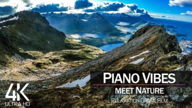 【4K】1 HOUR DRONE FILM: «Piano Vibes meet Nature» Ultra HD (for 2160p Ambient UHD TV)