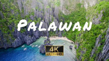 PALAWAN (4K UHD) Ambient Drone Film + Best Piano Music For Stress Relief, Sleep, Meditation & Yoga