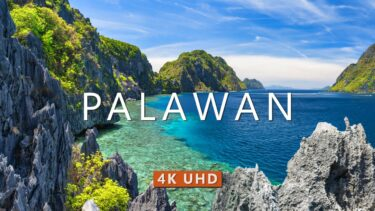 PALAWAN (4K UHD) Drone Film + Best Piano Music For Meditation, Sleep, Stress Relief & Yoga