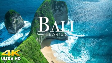 FLYING OVER BALI (4K UHD) – Amazing Beautiful Nature Scenery with Relaxing Music for Stress Relief