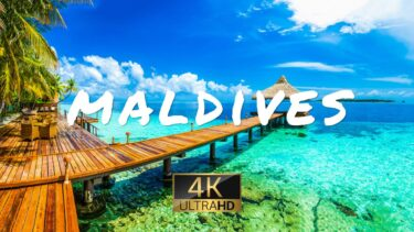 MALDIVES NATURE (4K UHD) Drone Film + Relaxing Piano Music for Stress Relief, Sleep, Spa, Yoga, Cafe