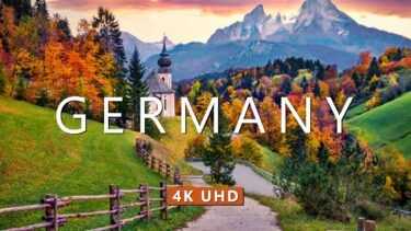 4K Drone Footage – Bird's Eye View of Germany, Europe – Relaxation Film with Calming Music